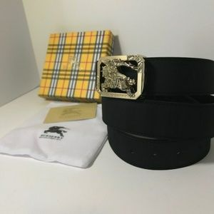 Black Reversible Burberry Belt